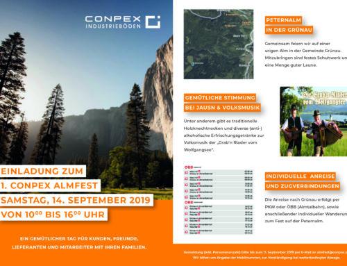 Einladung zum 1. Conpex Almfest