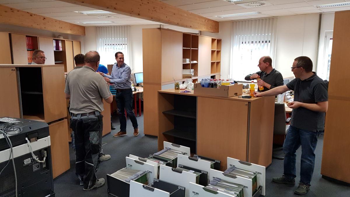 Umzug ins neue Büro von Conpex